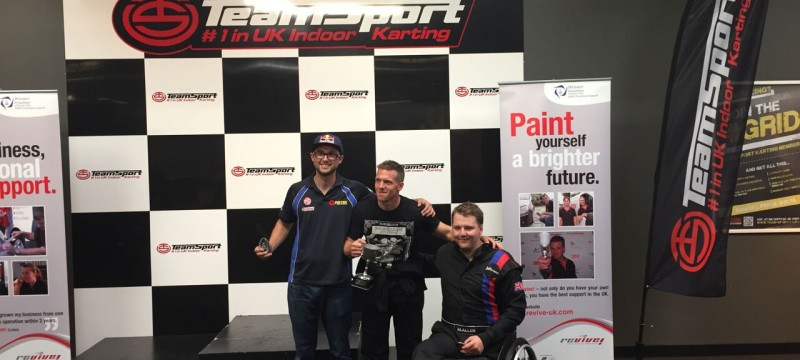 KartForce injured troops defeat BTCC Champ Andrew Jordan at the Annual Revive! Karting Championship