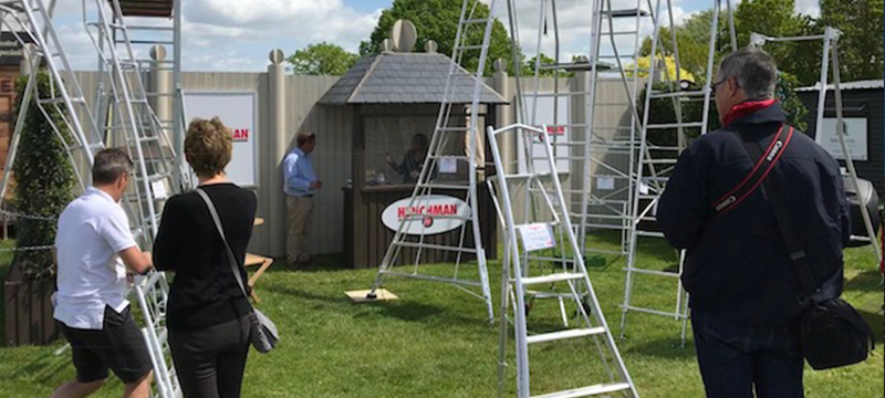 THE Safe alternative to step ladders on show at RHS Chelsea – Henchman Stand: Western Avenue 59